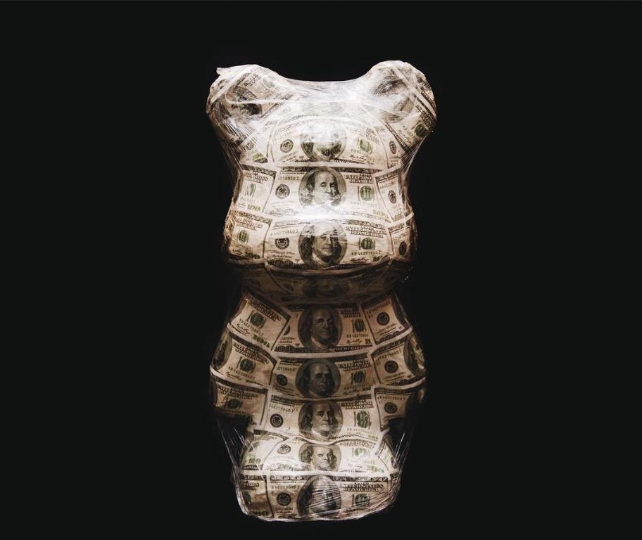 Papier Mache Bear Money Statue