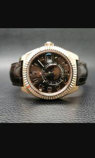 ROLEX SKY-DWELLER ROSE GOLD PREOWNED  Ref: 326135  Tahun: 2020  Kelengkapan: Box and Paper  Size: 42 mm  Kondisi: Excellent (1)