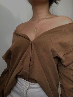 Zara Basics Oversized Corduroy Shirt