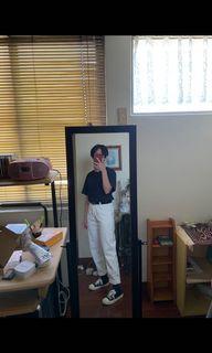 🐮白色直筒褲
