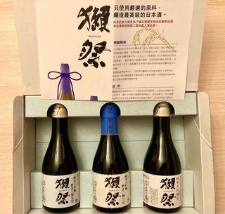 獺祭三瓶純米大吟釀禮盒裝( 180 mL )精米步合23/39/45 21年2月出荷