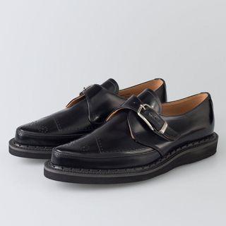 George Cox 英國製 黑色 雕花 扣環 皮鞋🖤