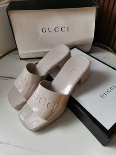 Gucci jelly platform sandals