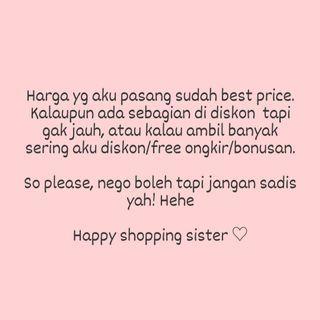 Happy shopping, no drama nego sadis