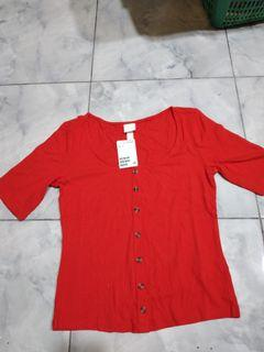 H&M ribbed top new