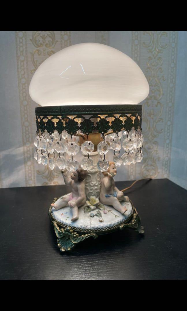 Lampu Capodemonte tinggi 27 lebar 20 cm