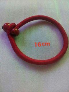 Tibetan red string bangle bracelet