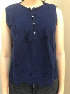 Zara Blue Sleeveless Top