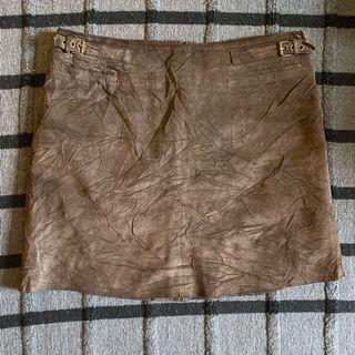 100% leather mini