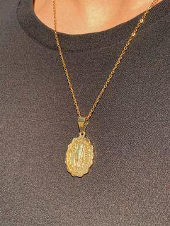 18k Gold Mother Mary Necklace