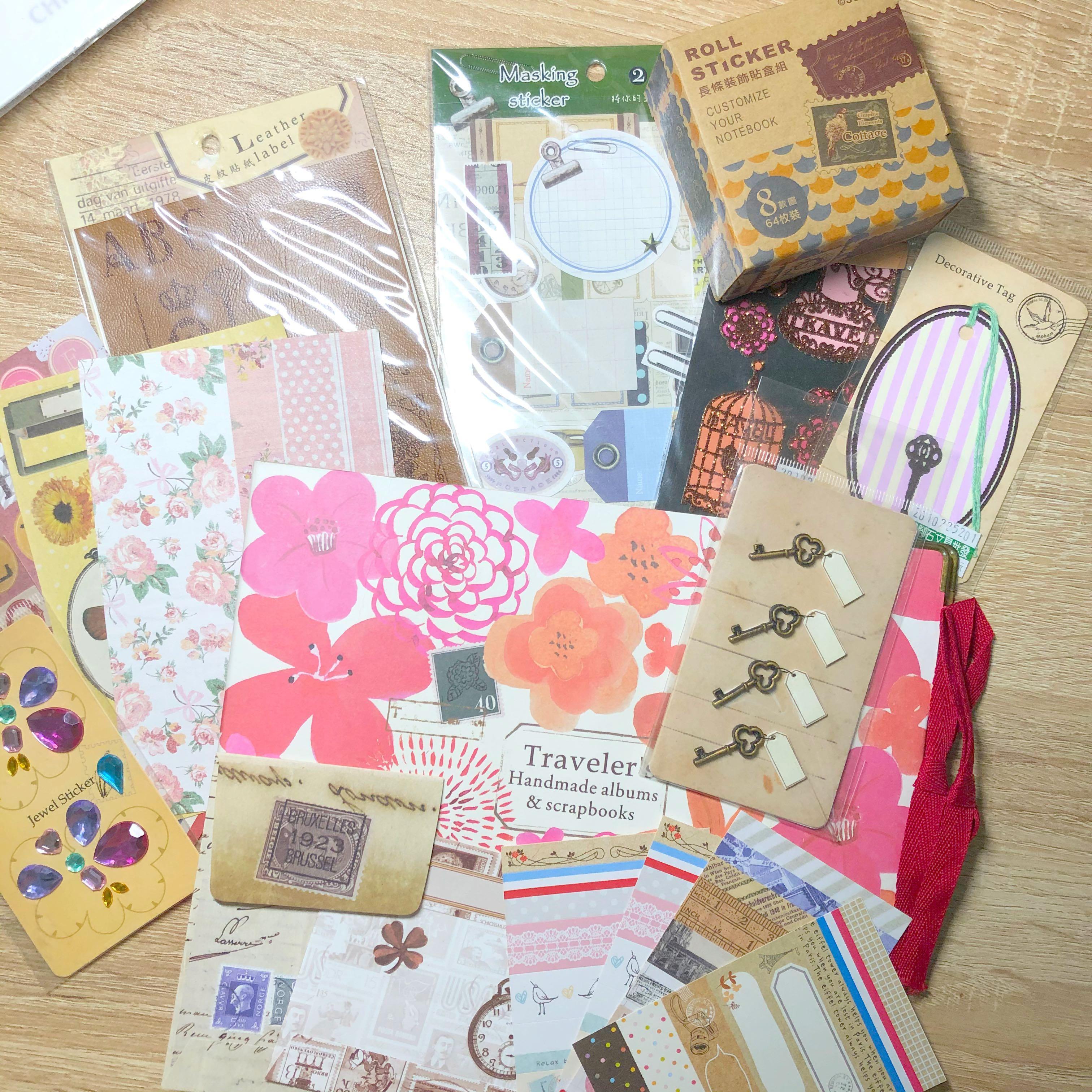 厲害的🤩|19件心意滿滿 手帳 貼紙 裝飾 禮物本 組合❤️