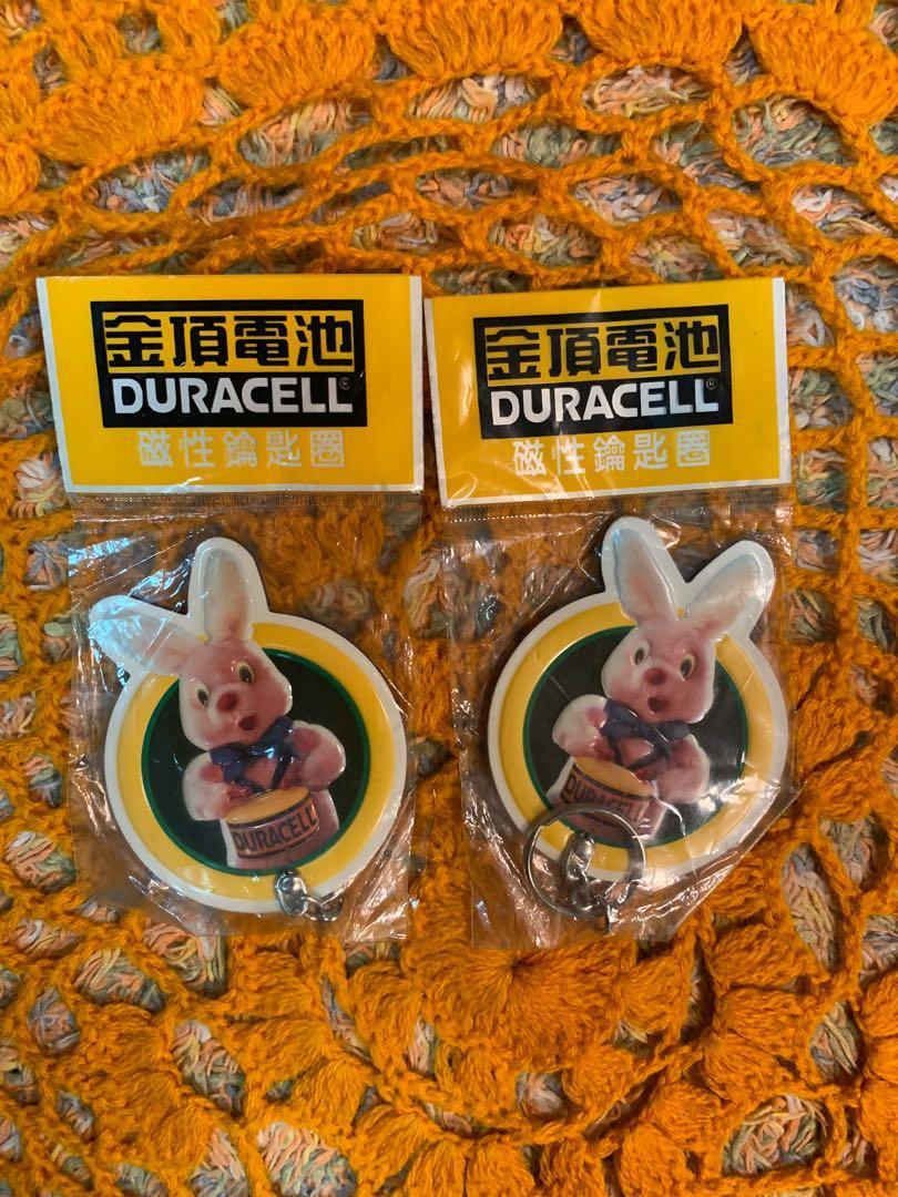 金頂電池兔子磁鐵鑰匙圈