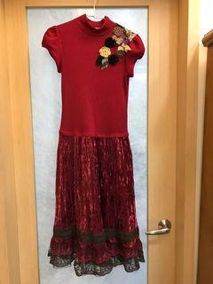 品牌復古風格洋裝