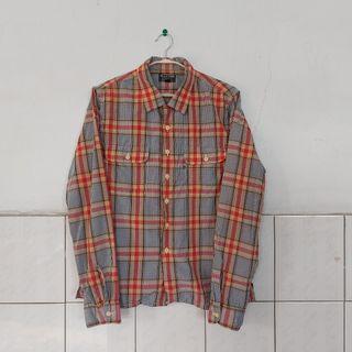 古着 格紋 襯衫(古着店購入)