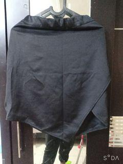 Bigsize jumbo rok sepan hitam scuba
