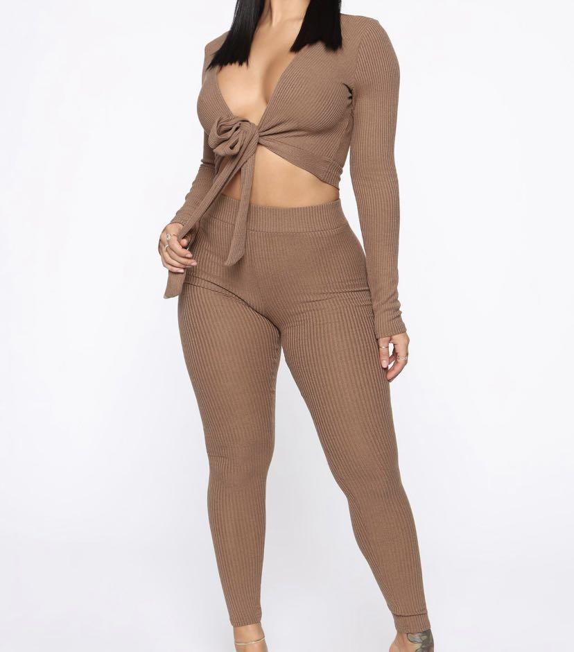 FASHIONNOVA - Grace Sweater Set (Mocha)