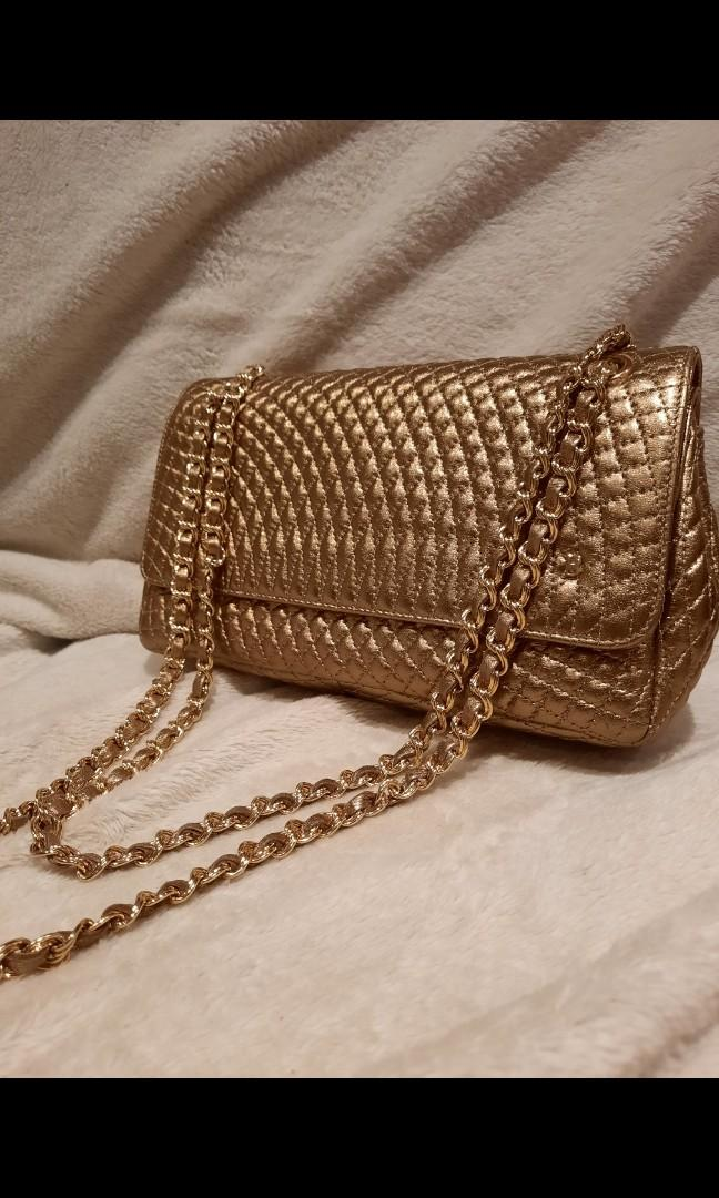 Genuine Bally Leather Quilted Purse