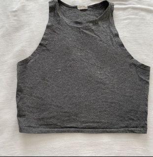 Grey crop tank top
