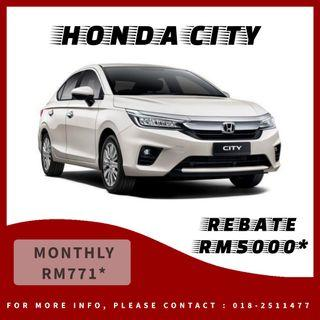 HONDA CITY SPECIAL REBATE RM5000*