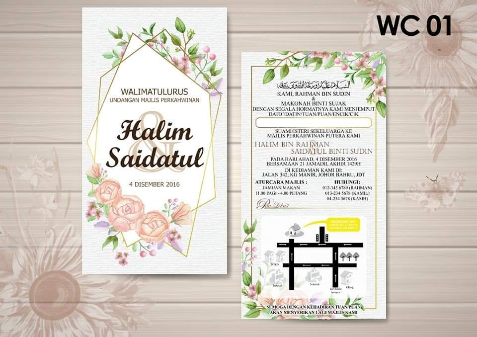 Kad Kahwin Design Craft Others On Carousell