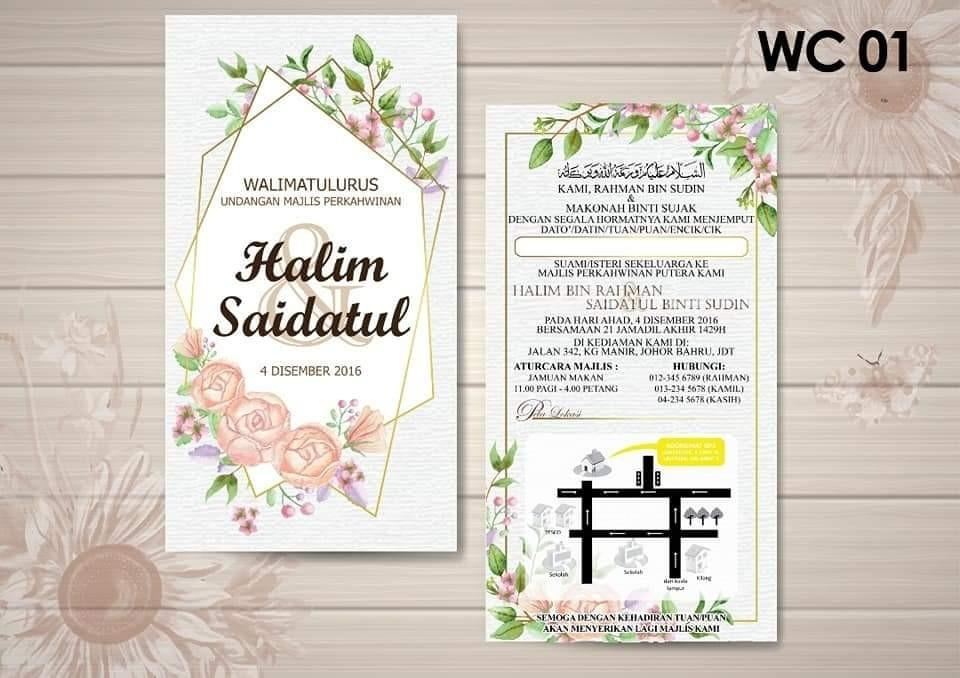 Kad Kahwin 2021 Design Craft Others On Carousell