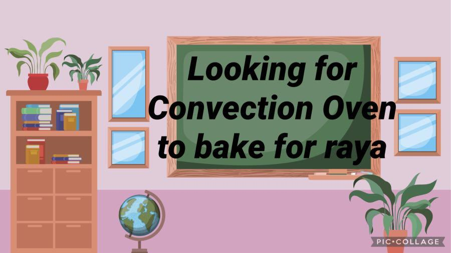 Looking for convection oven to bake for raya