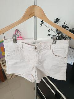 Stradivarius white hotpants