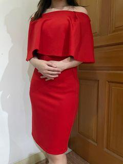 #maretsale  #50%discount RED SABRINA DRESS