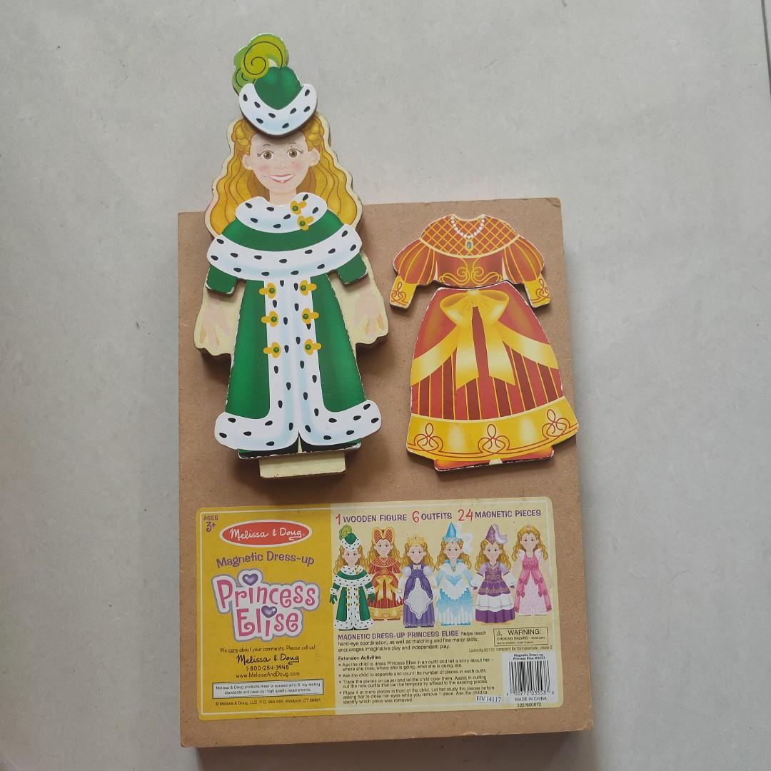 Melissa & Doug Deluxe Princess Elise / Wooden Magnetic Dressing Set