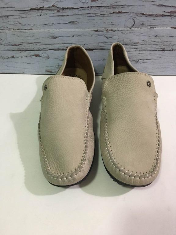 Men's Golden Loafer Shoes (Size 44)