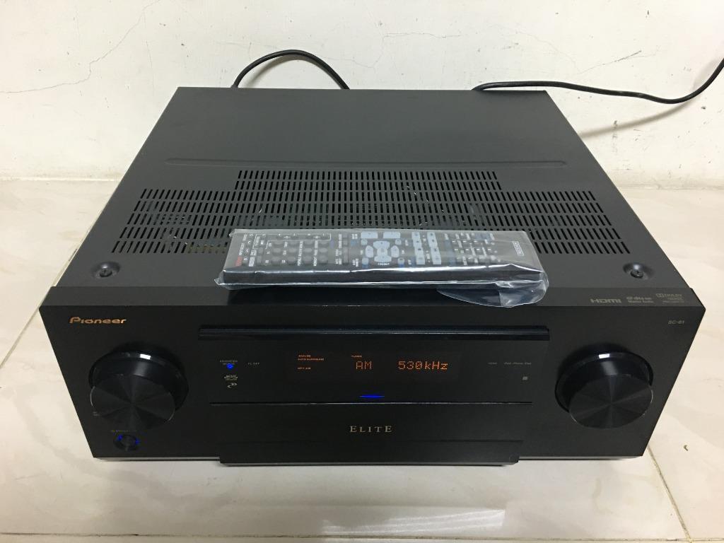 PIONEER SC-61  收音/AV環繞擴大機 藍光 3D 4K家庭劇院 7.2聲道 網路HDMI/ 有代用遙控器~