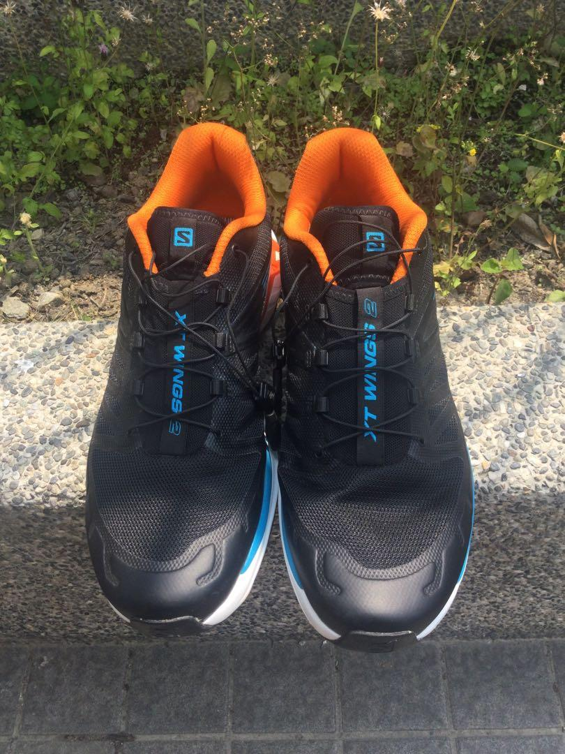 salomon s/lab Wings 2 Advanced黑色機能慢跑登山鞋 us12