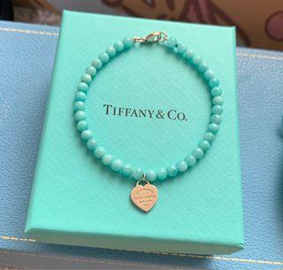 Tiffany amazonite 心心 手鍊