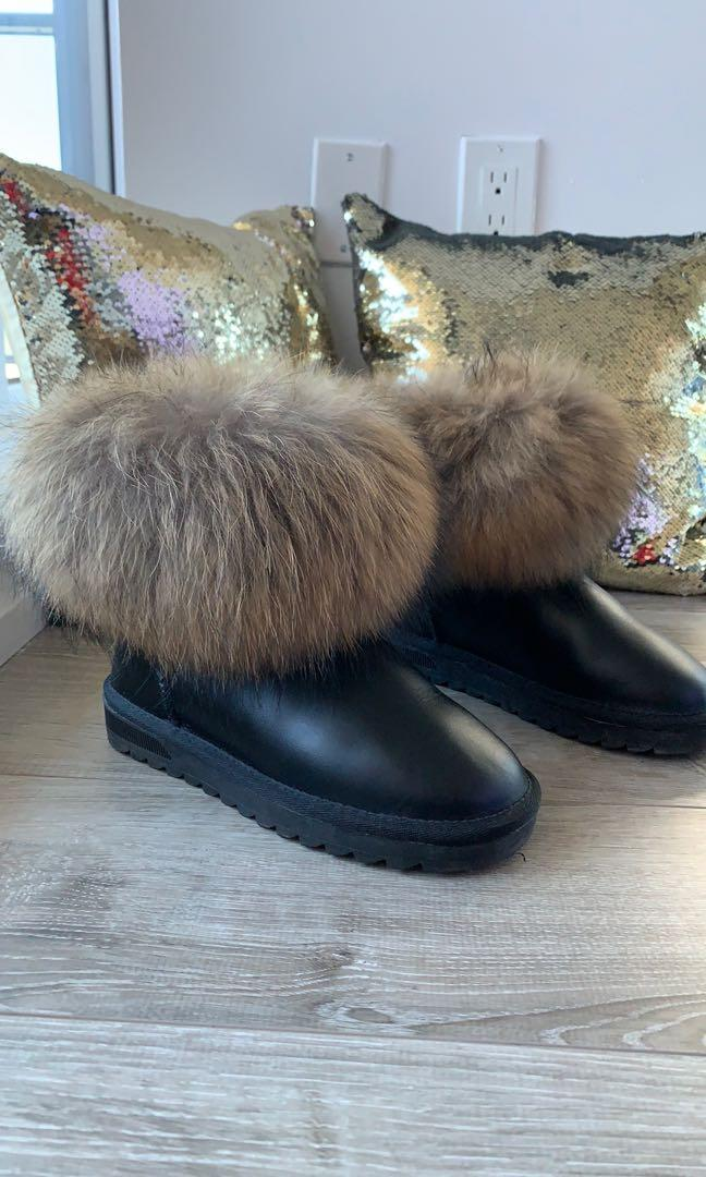 Women's Fox Fur Boots