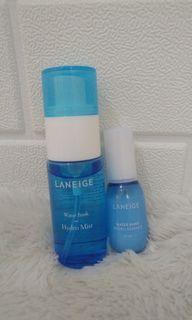2pcs Laneige water bank hydro mist 30ml & water bank hydro essence 10ml