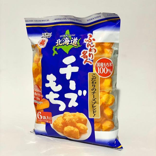 【日本零食】北海道越後製菓濃郁起司泡芙米果(6袋入)