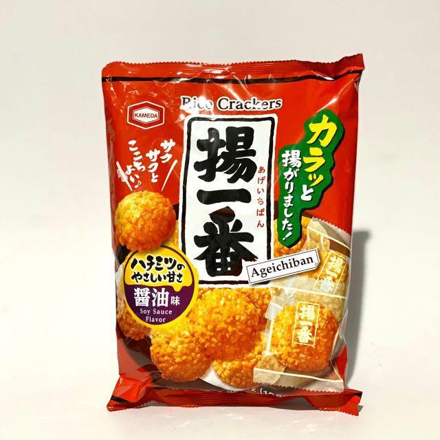 【日本零食】龜田揚一番醬油米果