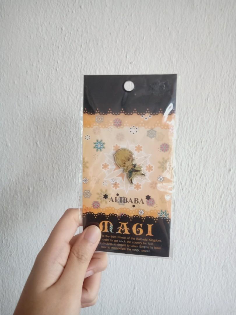 ⭐ Magi: The Labyrinth of Magic Anime Magi Chibi Alibaba Saluja mini pin keychain