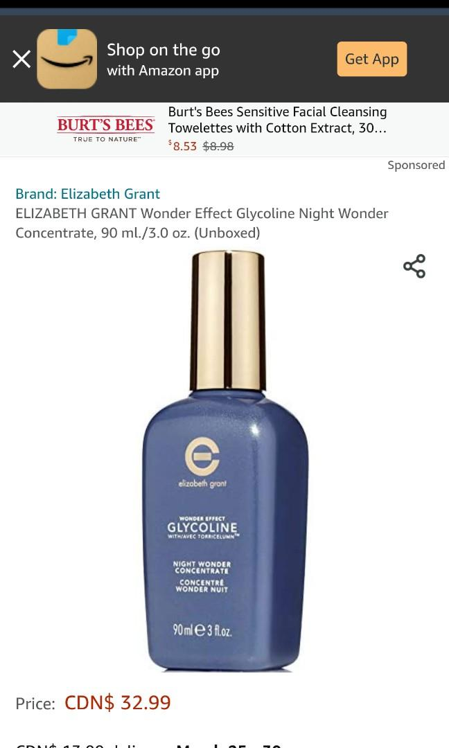 🌸ELIZABETH GRANT Wonder Effect, Night Wonder Concentrate, 90 ml./3.0 oz