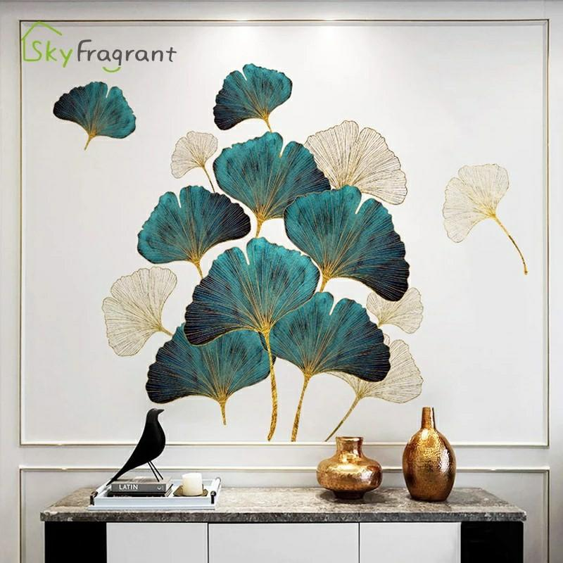 Fresh Leaves Wall Stickers Self Adhesive Bedroom Decor Living Room Sofa Background Wall Decor Home Warm Sticker Room Decoration Furniture Home Living Home Decor Wall Decor On Carousell