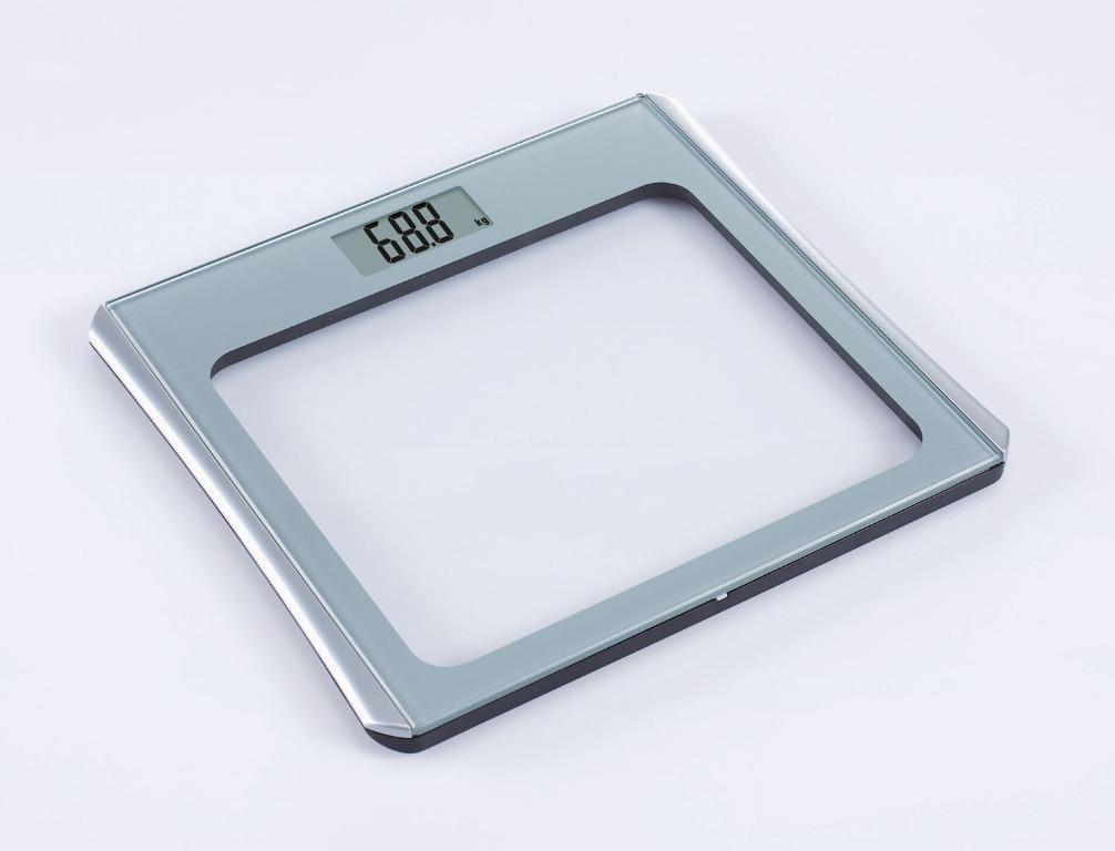 Glass Digital Scale (max capacity 150 kg/330 lbs)
