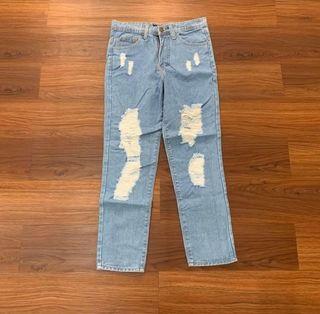 Highwaist Riped Boyfriend Jeans