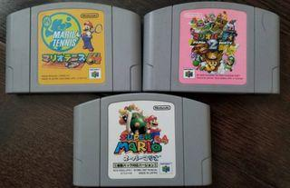Japanese N64 PS2 PS3 and XBOX 360 games