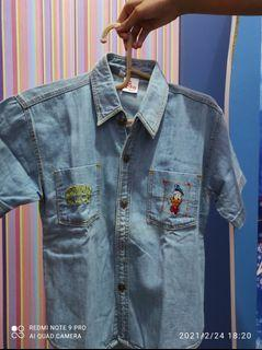 Kemeja jeans Disney