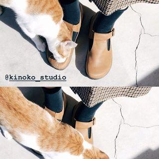 kinoko 花生吐司鞋 36號 真皮 九成新