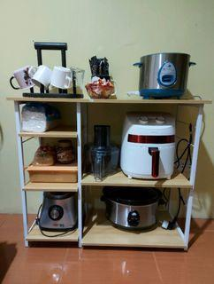 Kitchen table island rack shelve for oven or any appliances