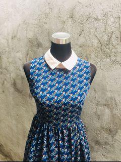 🔥SALE🔥 Navy Blue Printed Dress