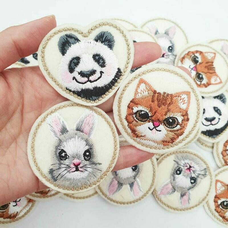 Patch Panda / Patch Kelinci / Patch kucing