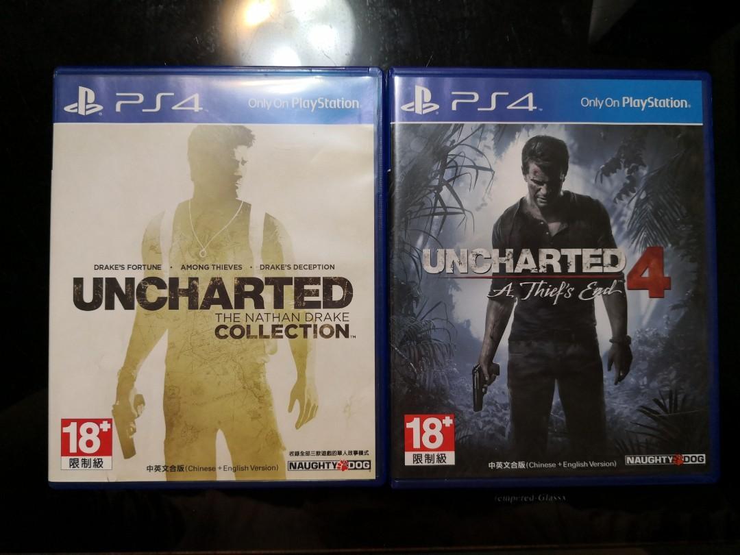 PS4 遊戲片-秘境探險1-4代