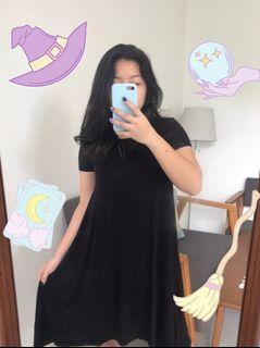 Swing Dress / Dress Hitam Kaos